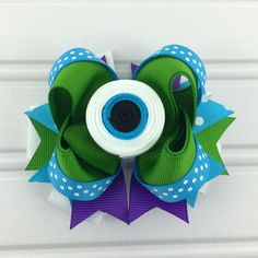 Hey, I found this really awesome Etsy listing at https://www.etsy.com/listing/154645474/monster-girl-hair-bow-clip-movie