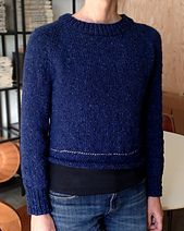 It's not just a sweater —it's a top-down tutorial in action. I'm explaining the top-down method as I knit a simple raglan pullover to my own specifications, without a pattern, so...