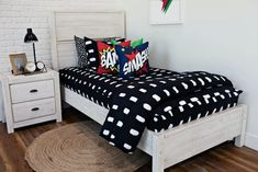 Styled for Boys – Beddy's Boys Black And White Bedroom, Beddys Bedding, Big Boy Bedrooms, Shared Bedrooms, Zipper Bedding, Make Your Bed, New Room, Bedroom Decor, Bedroom Ideas