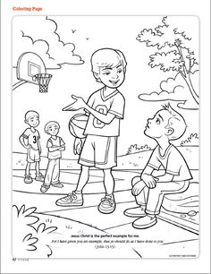 Jesus Christ Is The Perfect Example For Me LDS Friend Magazine Coloring Page