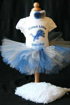 Detroit Lions Cheerleader Outfit by CraftyMamasitas on Etsy, $40.00