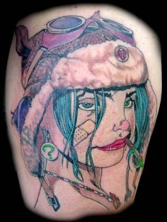 My favorite tattoo ..Tank Girl (Right upper arm)
