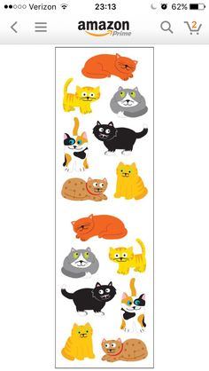 Cat stickers from Amazon