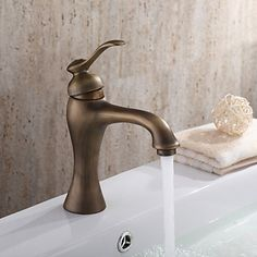 Personalized Bathroom Sink Tap in Antique style Bathroom Sink Tap with Centerset Antique Brass finish Antique Brass Bathroom Faucet, Brass Bathroom Faucets, Basin Sink Bathroom, Brass Faucet, Bathroom Plumbing, Kitchen Faucets, Chinese Bathroom, Minimalist Toilets, Discount Bathrooms