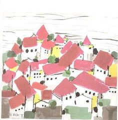 A Sea of Red Houses by Wu Guanzhong