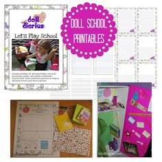 Doll School Printables from Doll Diaries - Doll sized teacher letters and manilla envelope template, folder template and school accessories printable, 3 different types of lined paper, worksheets, story starters, journal pages, and instructions to make a doll sized locker. Bonus full sized story starter and journal page for girls, too. Fifteen pages total!!