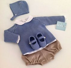 Pin by Valeria Segota on Baby Knitting For Kids, Baby Knitting, Baby Boy Fashion, Kids Fashion, Baby Boy Outfits, Kids Outfits, Bebe Baby, Knitted Baby Clothes, Baby Couture
