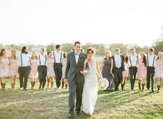 Round Top Texas wedding...great wedding party picture idea.