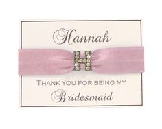 Pink Hair Tie | Bridesmaid Hair Tie | Pink Wedding | Wedding Hair Tie | Bridal Hair Tie | Wedding Accessories | Pink Bridal Party | Favor