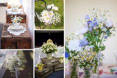decorazioni matrimonio con margherite, fiori matrimonio