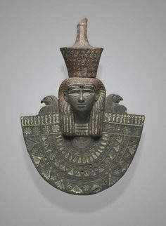 Bronze aegis of Isis with inlays of electrum, silver, and bronze. Third…