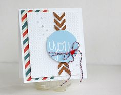 CAS -die cut and cork by Studio Calico, strips by Crate Paper.