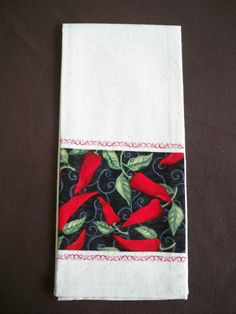 Items similar to Red Chili Peppers Kitchen Dish Cloth/ Towel on Osanberg Material on Etsy Kitchen Dishes, Kitchen Towels, Kitchen Dining, Kitchen Decor, Red Chili Peppers, Tablerunners, Pot Holders, Stuffed Peppers, Decorations