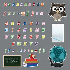 Colorful Alphabet Letters Stickers