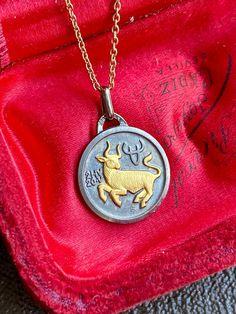 Taurus Zodiac Sign Necklace with Gold Chain, Celestial Astrology Talisman Jewelry Zodiac Sign Necklace, Zodiac Jewelry, Astrological Sign, Zodiac Symbols, Gifts For My Boyfriend, Taurus, Beautiful Necklaces, Gold Chains, Zodiac Signs