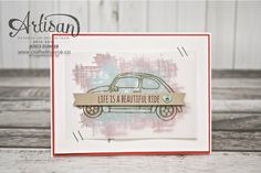 A beautiful ride | by Stampin Up | www.craftwithjoyce.ca | by Joyce Fowler
