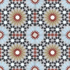 Moroccan Encaustic Cement Pattern Pre Sealed 23c