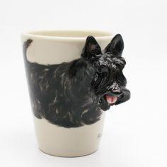 http://stores.ebay.com/madamepOmm-BlueWitch  Black Scottish Terrier Dog Lover Mug Decorative Gifts.