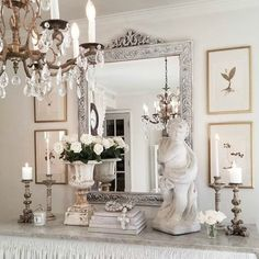 French Farmhouse Christmas Decor Inspiration – Hello Lovely French country interior design inspiration from The French Nest Co. Come tour this beautiful French farmhouse style home with white on white romantic decor! French Country Interiors, Country Interior Design, French Country Kitchens, French Country Bedrooms, French Country Living Room, French Country Farmhouse, French Country Style, French Country Decorating, Home Interior