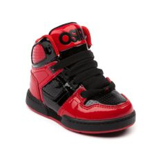 Osiris Shoes High Tops Red And Black