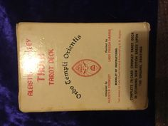 """Aleister Crowley's """"Greenie"""" THOTH Tarot Deck *White Box C* OCCULT Thelema O.T.O"""