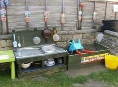 Play kitchen for mud pies