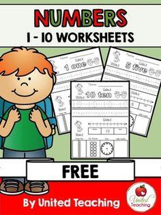 Numbers 1 - 10 Free Worksheets