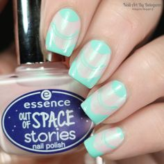 Nail Art By Belegwen: Essence Outta Space Is The Place with mint stamps