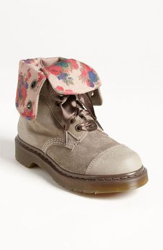 Other pair of Docs I was considering because of the neutral color, hidden floral print in the lining, and ribbon laces