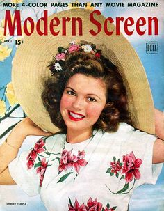 """Shirley Temple on the cover of """"Modern Screen"""" magazine, USA, April 1945."""
