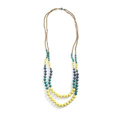 Don't shy away from bright colors. This lightweight necklace is a great way to ease into neons. Wear it with navy or orange if you're feeling adventurous! (Stitch Fix Mediterranean Beaded Necklace)