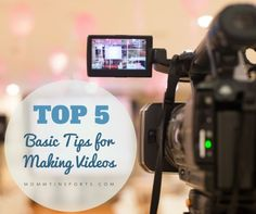 Learn how to make videos for your blog or YouTube channel.