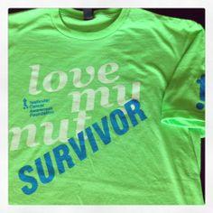Testicular cancer awareness merchandise. Love My Nut Survivor Shirt. 100% of proceeds go to the Testicular Cancer Awareness Foundation.