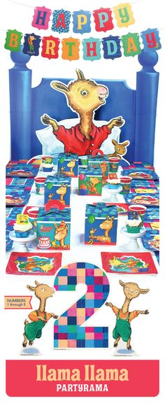 19 Best Llama Llama Partyrama Images Pajama Birthday Parties