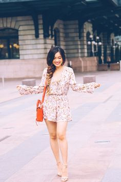 Flora romper and fishtail braid