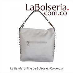 Cartera David Jones CM0428 Blanco Grande, A la moda con taches en los costados. Mira el precio aquí: http://www.labolseria.com.co/bolsos/cartera-david-jones-cm0428-blanco/