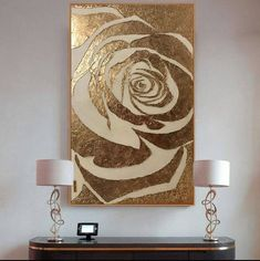 Large Abstract Painting Rose Gold Painting Textured Painting Modern Art Wall Decor Gold Leaf Rose Painting On Canvas by Julia Kotenko I dig the gold paint.image of Arthouse Plaster Floral Canvas Wall Art Abstract Canvas, Canvas Wall Art, Painting Abstract, Painting Canvas, Rose Gold Painting, Gold Leaf Art, Painted Leaves, Painted Roses, Modern Wall Art