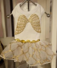 Little Angel Dog Tutu Dress - Dog Clothes - Cassie's Closet