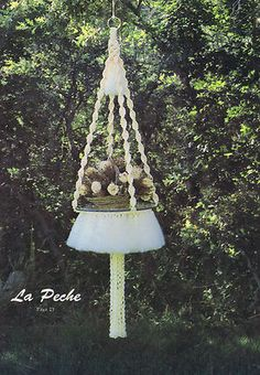 MACRAME ELEGANCE IV    GS7M    Copyright - 1981    17 Patterns    Macrame Hanging Tables Patterns  Chandelier Shades  Hanging Plant Holders
