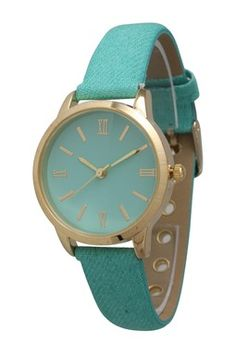 Olivia Pratt Women's Petite Denim Watch