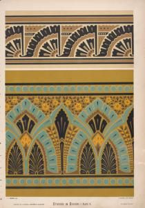 Border ornaments of new style. The upper may run around the architrave of a door or window, [...]