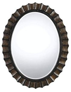 Buy the Cal Lighting Dark Bronze Direct. Shop for the Cal Lighting Dark Bronze Sycamore Oval Beveled Mirror and save. Oval Mirror, Beveled Mirror, Beveled Glass, Ceiling Fan Chandelier, Chandelier Lighting Fixtures, Houston Lights, Wall Mounted Mirror, Lighting Store, Lowes Home Improvements