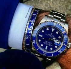 Rolex. Azul y acero. La combinación perfecta para el hombre.