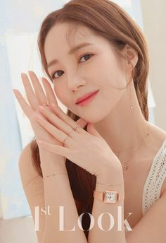Look' released gorgeous photos of Park Min Young. The actress wore simple yet stylish jewelry that elegantly adorned her look. Park Min Young looked beautiful and pure in the warm-like photoshoot! Asian Actors, Korean Actresses, Korean Actors, Actors & Actresses, Park Min Young, Korean Star, Korean Girl, Lee Sung Kyung, Kdrama Actors