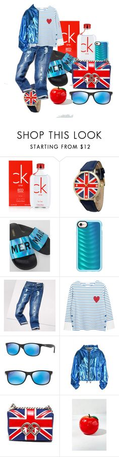 """""""Street style"""" by emmmy88 on Polyvore featuring Calvin Klein, Olivia Pratt, The White Brand, Casetify, Tommy Hilfiger, Ray-Ban, MSGM, Dsquared2, TONYMOLY and StreetStyle"""