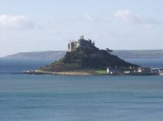 St Michael's Mount, Cornwall - 1135-44 - fortress-like abbey dedicated to St Michael the Archangel - Edward the Confessor (1042 - 66) gave island to Benedictine Mont-St-Michael in France.