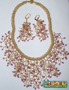 Necklace of beads. Scheme