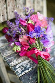 sweet peas and lavender