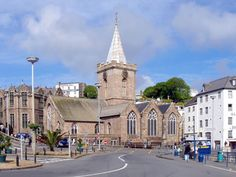 The closest church to a pub in all of the UK - well reportedly.  St. Peter Port - Channel Islands.