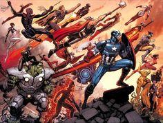 Avengers World cover by Arthur Adams